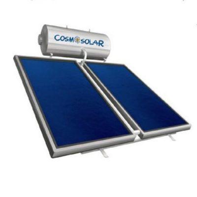Ηλιακός Θερμοσίφωνας Cosmosolar απο Ανοξείδωτο Ατσάλι Inox Aisi 316L 300 l με 2 Επιλεκτικούς Συλλέκτες 4.00 τμ Επίστρωσης Τιτανίου Τριπλής Ενέργειας