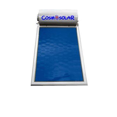 Ηλιακός Θερμοσίφωνας Cosmosolar Glass 160 l με 1 Επιλεκτικό Συλλέκτη 2.52 τμ επίστρωσης Τιτανίου Τριπλής Ενέργειας