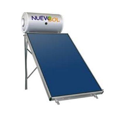 Ηλιακός Θερμοσίφωνας Glass Nuevosol 160 l με 1 Επιλεκτικό Συλλέκτη 1.95 τμ Διπλής Ενέργειας