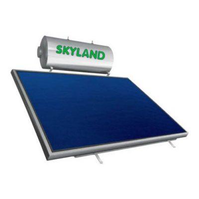 Ηλιακός Θερμοσίφωνας Glass Σειράς GL Skyland 160 l με 1 Κάθετο Επιλεκτικό Συλλέκτη 2.30 τμ Επίστρωσης Τιτανίου Τριπλής Ενέργειας